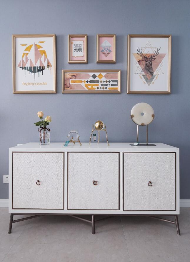 美式風格房子室內柜子裝修裝飾效果圖