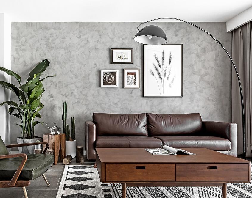 美式風格家用客廳木質茶幾裝修圖