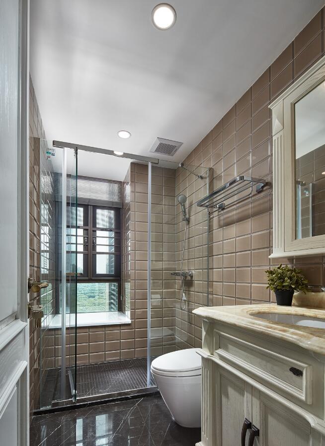 美式風格兩居樣板房衛生間裝修圖大全