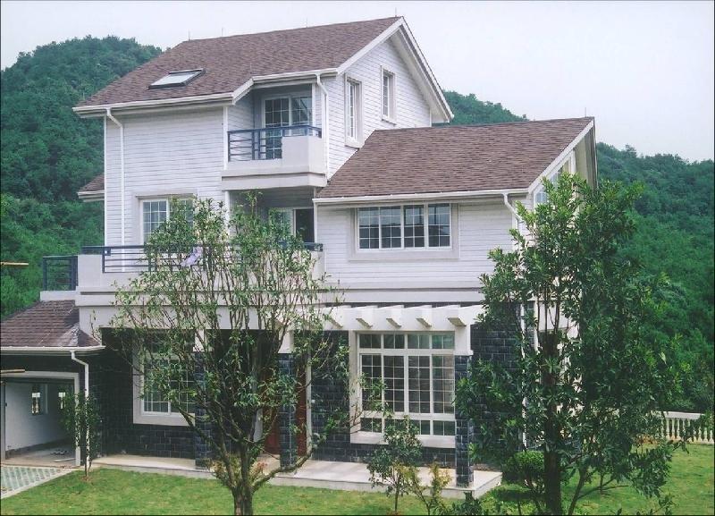 農村二層半別墅外墻瓷磚效果圖