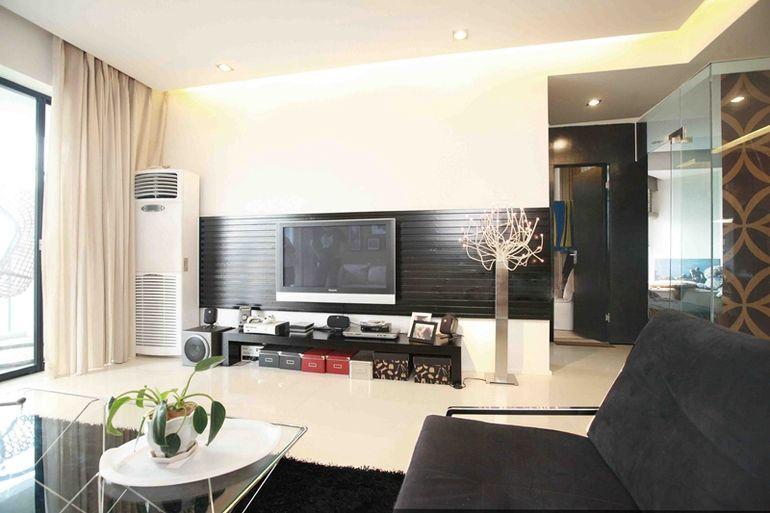 南辰景秀109㎡現代簡約客廳裝修案例