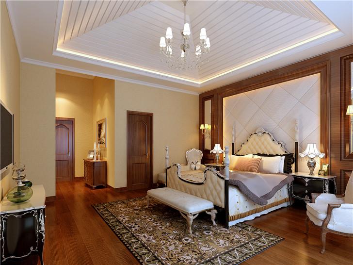 歐式風格別墅臥室吊頂設計裝修圖片