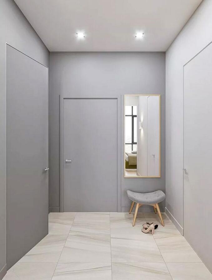 歐式風格單身公寓樣板房進門裝修效果圖
