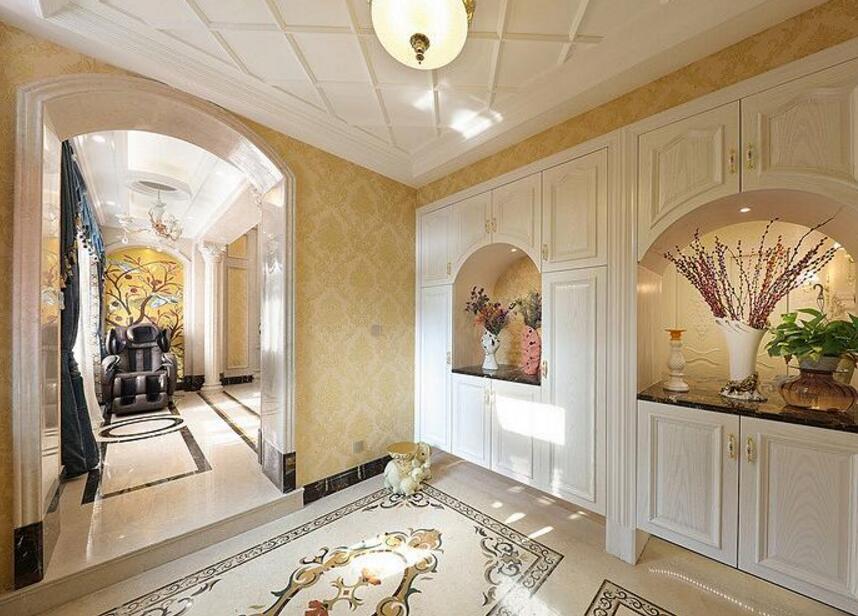 歐式風格家庭房屋玄關設計效果圖