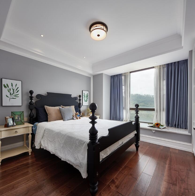 歐式風格樣板房兩居臥室窗簾裝修圖片