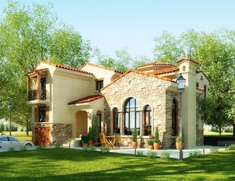 歐式兩層別墅外觀設計圖