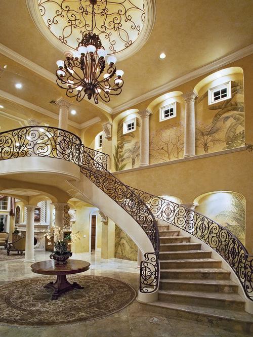 歐式現代獨棟豪華別墅樓梯設計圖片