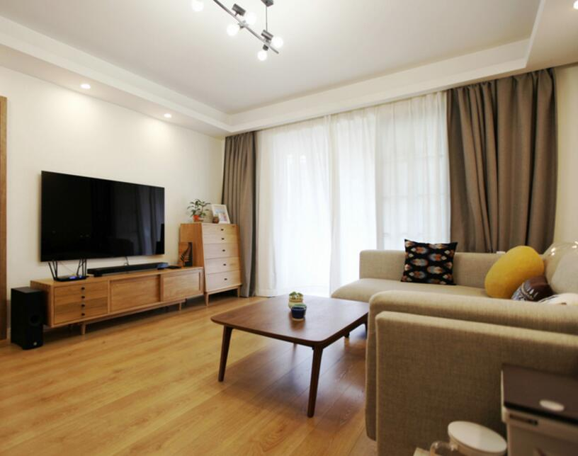日式風格兩居裝修樣板房客廳布置效果圖