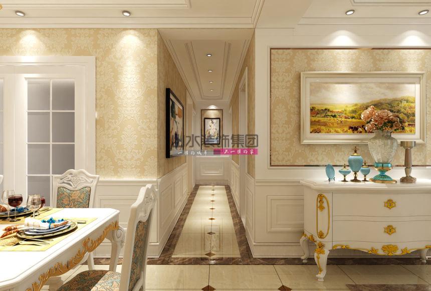 尚城一品歐式140平三居室玄關裝修案例