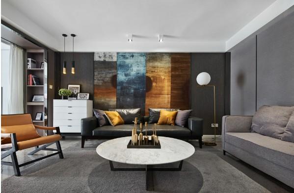 遂寧健坤華翔城現代簡約客廳裝修效果圖片
