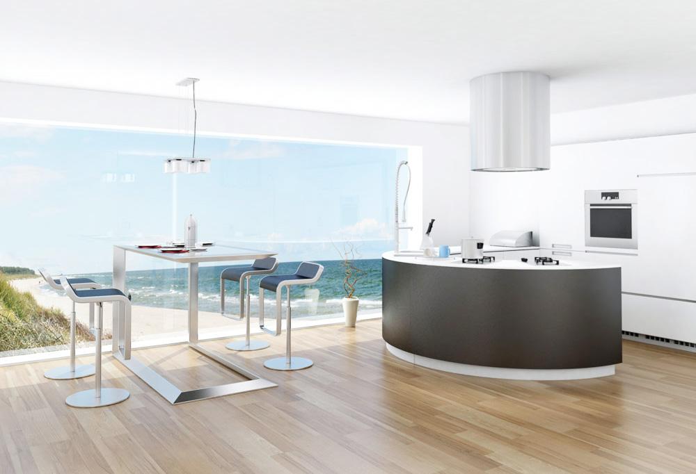 現代別墅廚房隔斷柜圖片