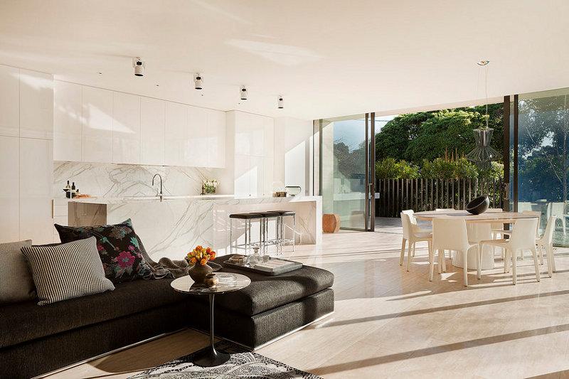 現代別墅開放式廚房裝修設計效果圖