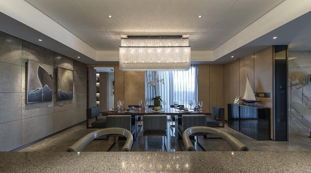 現代別墅室內餐廳設計裝修效果圖片大全