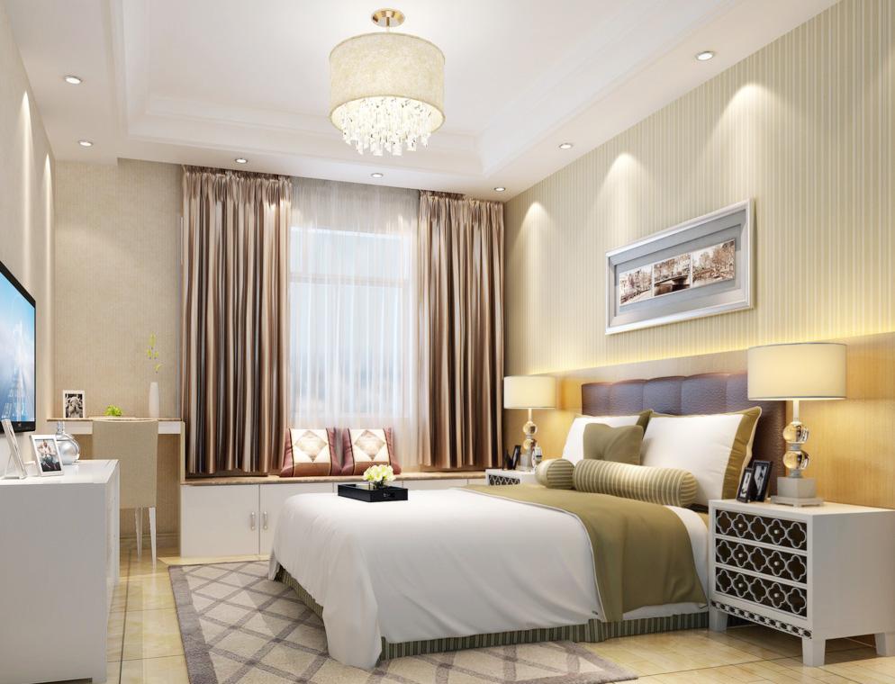 現代別墅臥室榻榻米設計裝修效果圖片