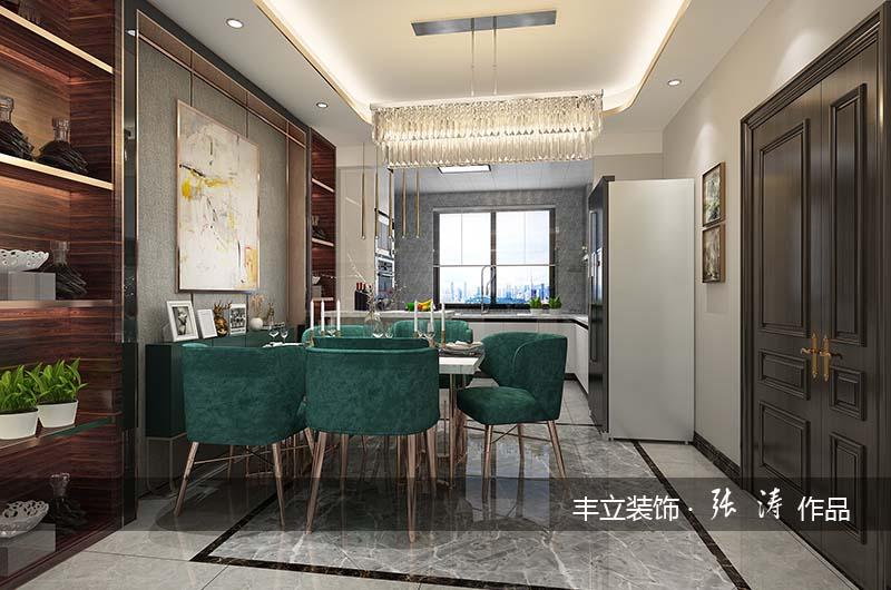 現代風格168平米四居室餐廳裝修設計效果圖