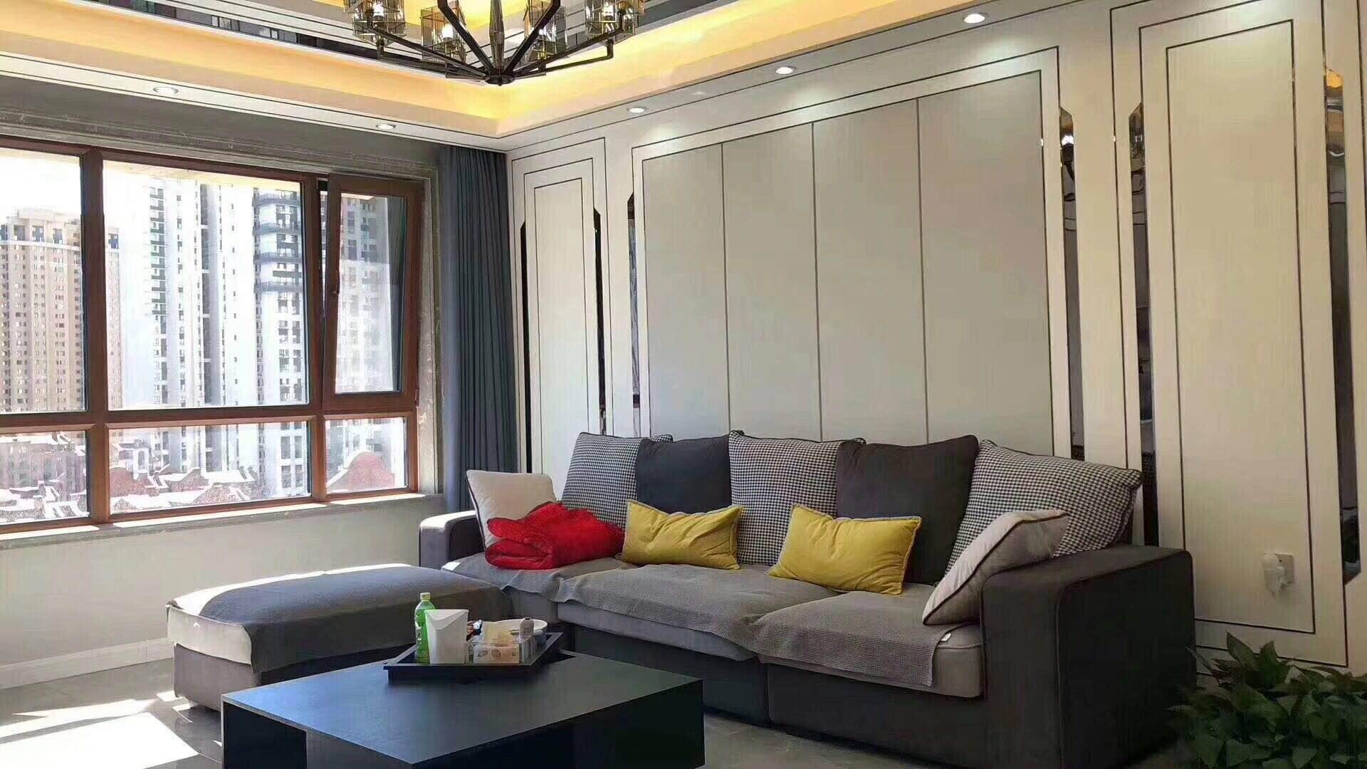 現代風格80平米二居室客廳沙發設計圖片