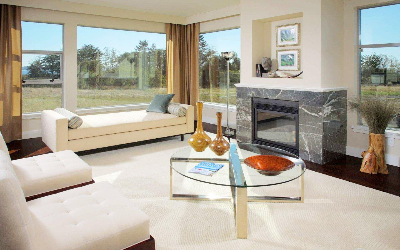 現代風格別墅客廳玻璃茶幾裝修效果圖片