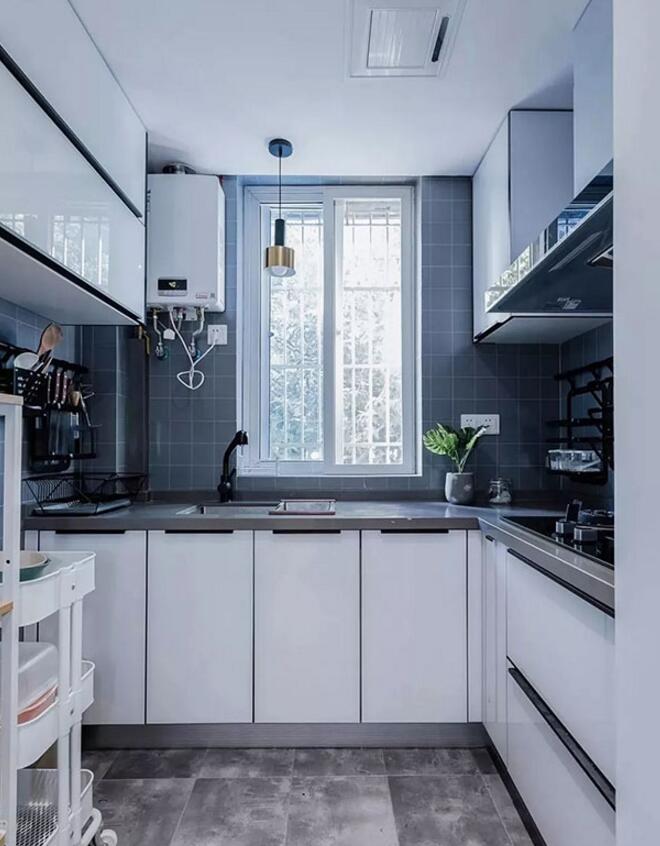 現代風格單身公寓樣板房廚房簡單裝修