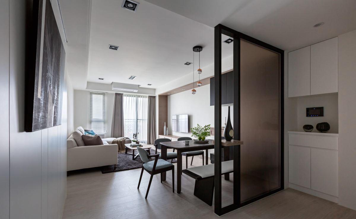 現代風格房屋玄關隔斷造型設計效果圖