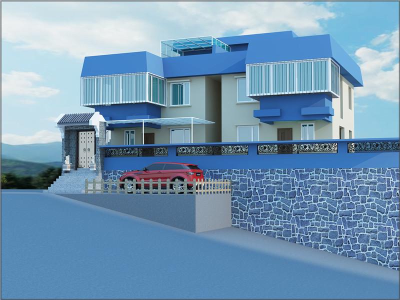 現代復式二層半別墅外觀設計裝修圖片