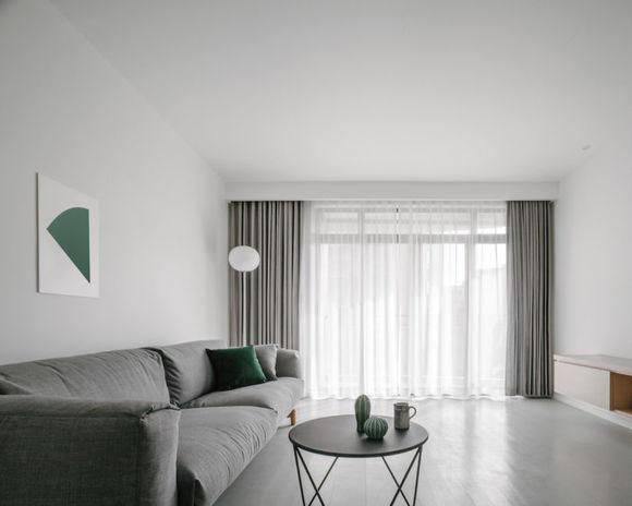 現代極簡風格117平三居客廳設計圖片