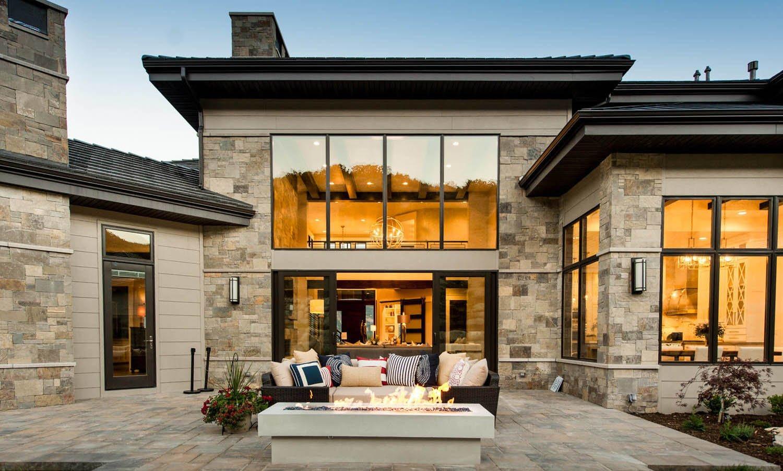 現代家庭別墅四合院效果圖片