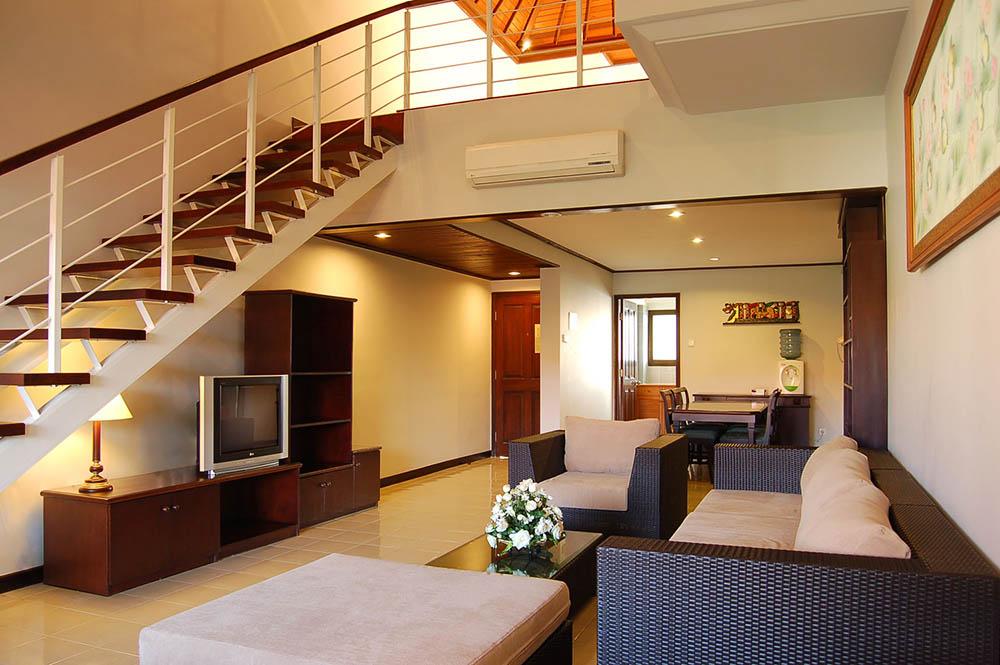 現代簡約家裝復式別墅客廳設計效果圖