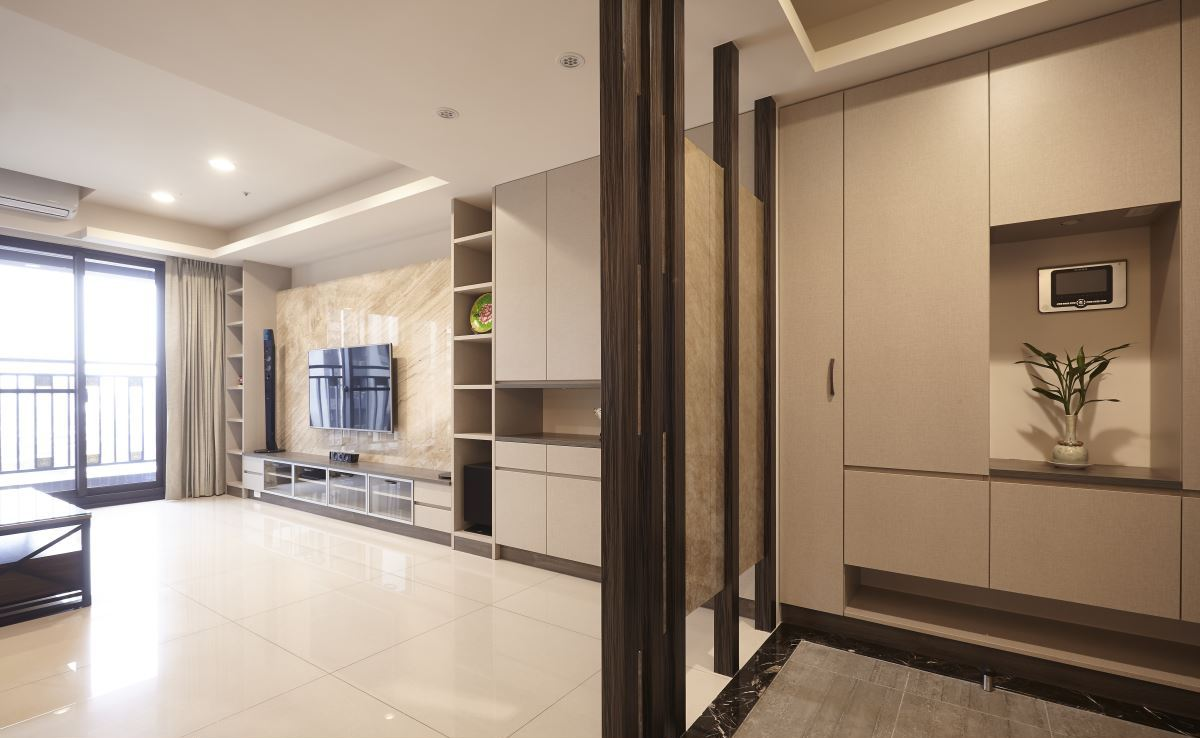 現代家裝房屋進門玄關設計效果圖大全