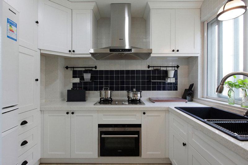 現代美式風格130平米四居廚房裝修圖片