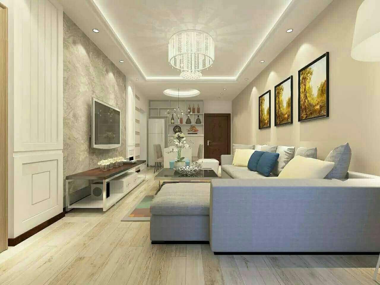 現代三居時尚客廳背景墻裝修效果圖