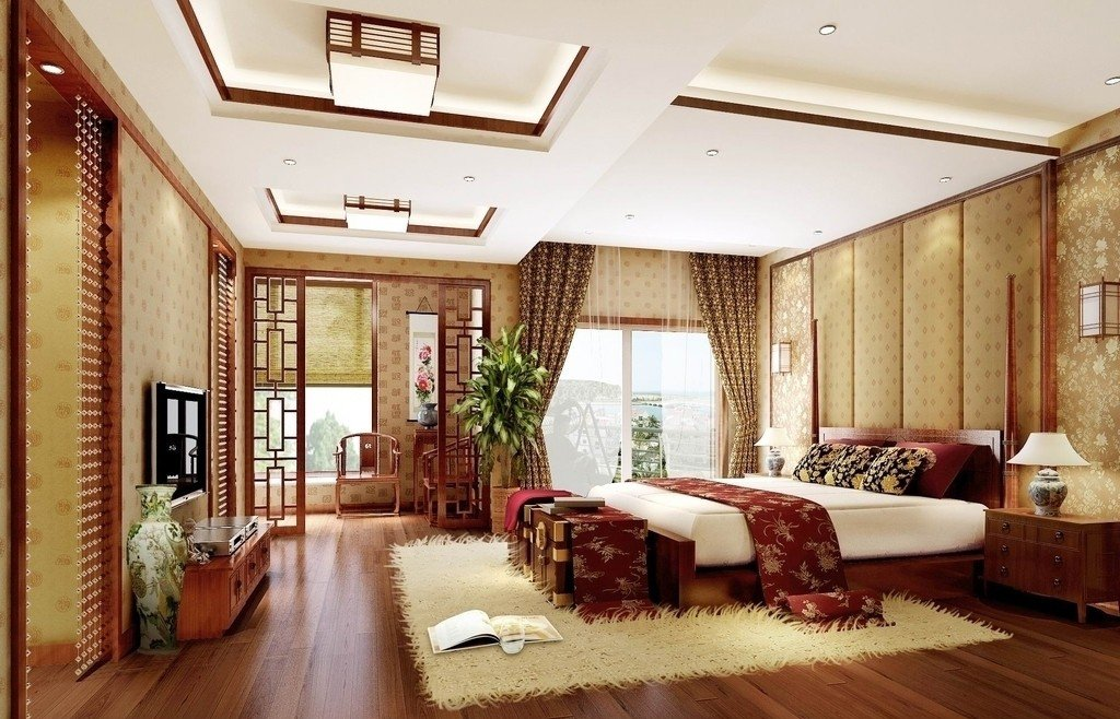 現代新中式風格設計元素酒店裝修效果圖