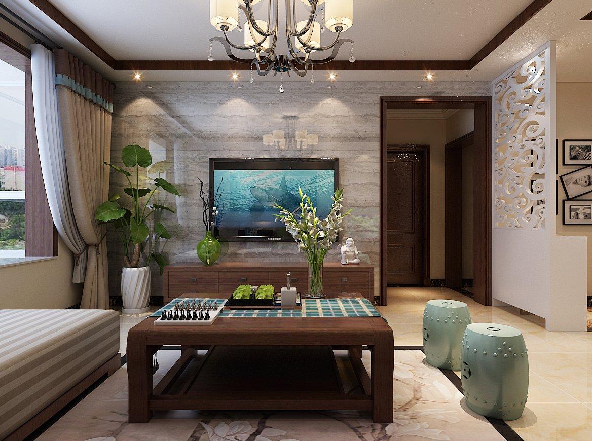 現代中式別墅茶幾裝修效果圖片