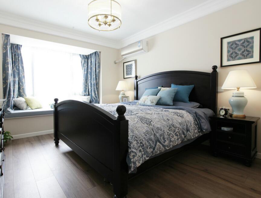 新古典風格兩居樣板房臥室裝修圖片