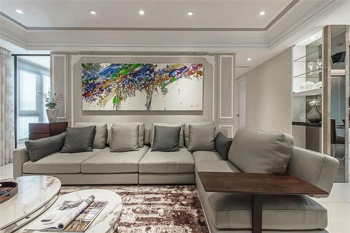 陽光城新界150平米平層現代風格客廳裝修效果圖