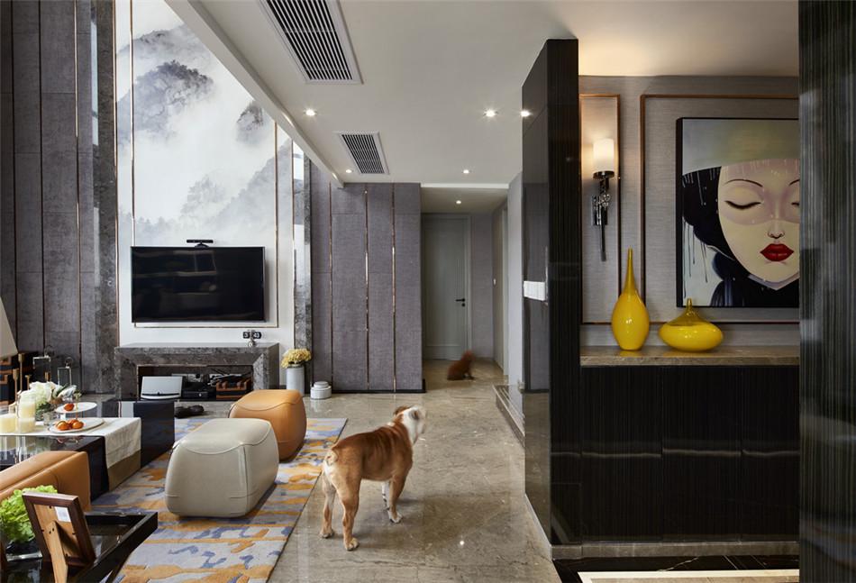 陽光凡爾賽宮150平米躍層現代風格玄關裝修效果圖