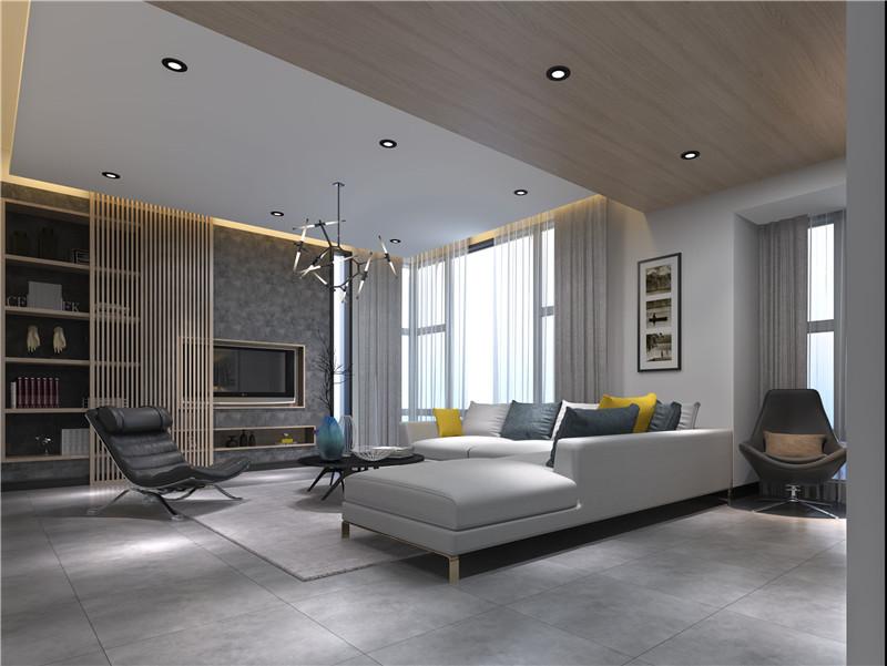 月瓏灣豪庭270平米現代簡約風格客廳效果圖