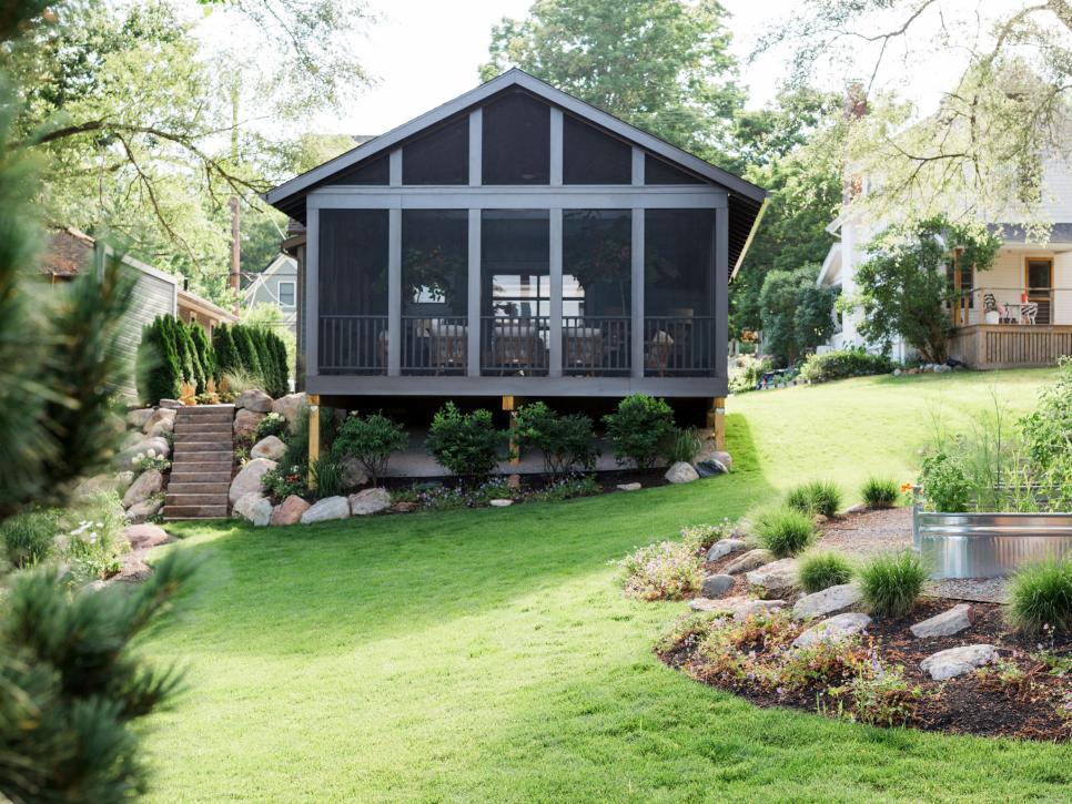 英式私人別墅后院設計圖片