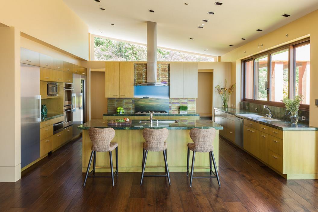 最漂亮小型別墅廚房吧臺設計效果圖欣賞