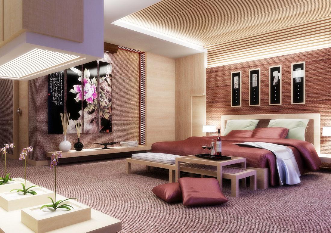 中式別墅長臥室裝修效果圖
