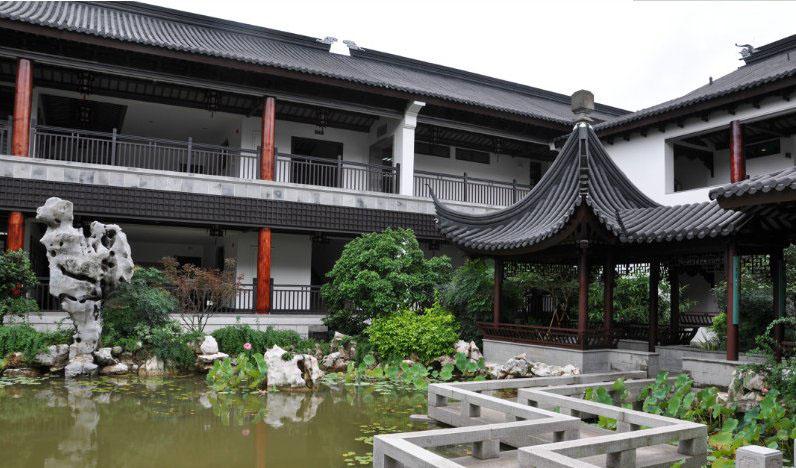 中式獨棟別墅入戶花園裝飾裝修