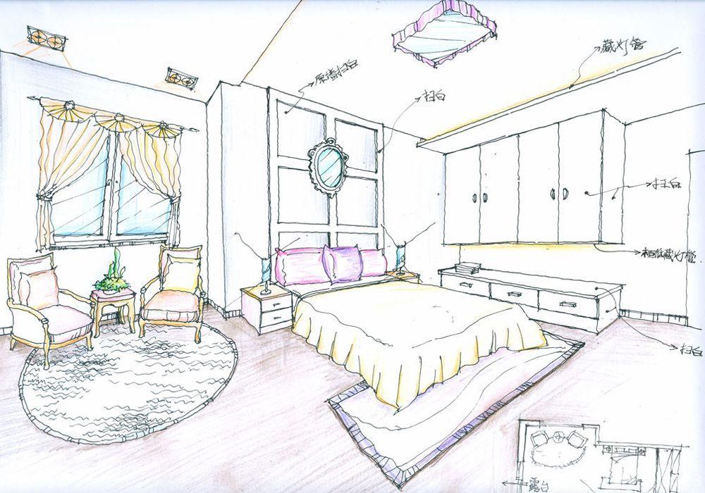 最新別墅大臥室裝修設計圖紙效果圖