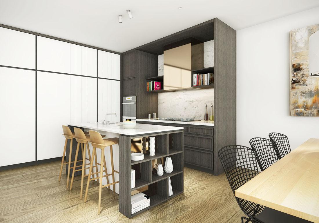 最新家居別墅廚房吧臺設計裝修效果圖片