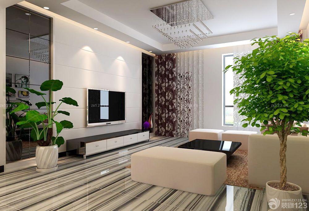 最新家裝客廳設計電視柜效果圖片大全
