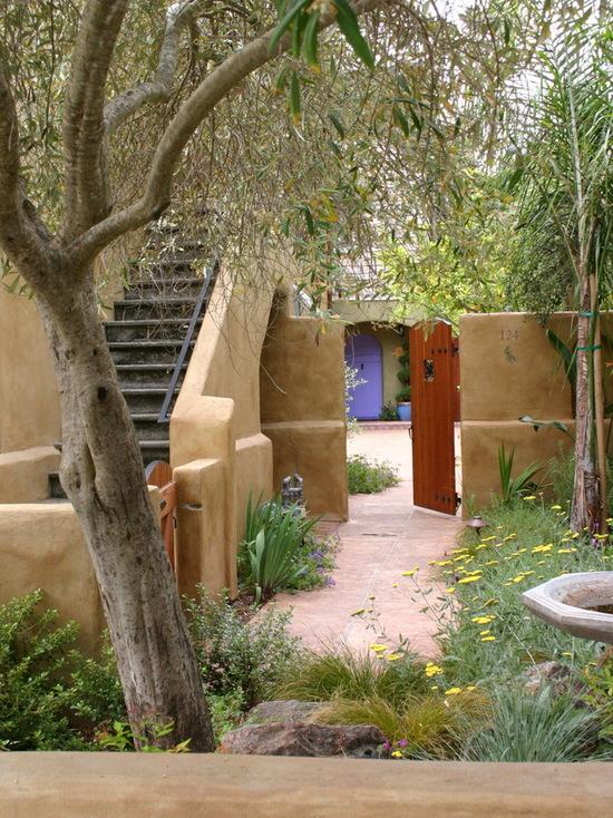 最新雙拼別墅庭院設計效果圖片
