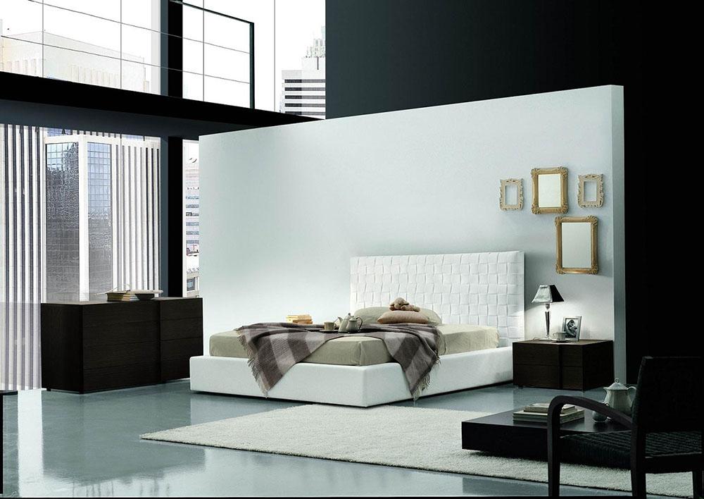 最新現代別墅臥室床頭背景墻設計效果圖